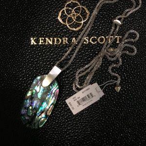 Kendra Scott Inez silver and Abalone shell